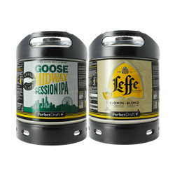 Fusti - Fusto Leffe Blonde e Goose Island Midway Session IPA PerfectDraft 6L - 2-Pack