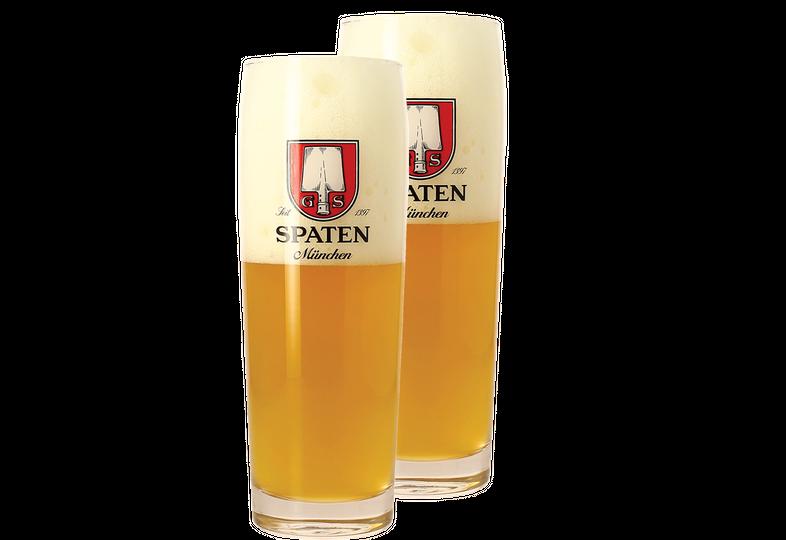 Biergläser - Pack 2x 50cl Spaten Gläser