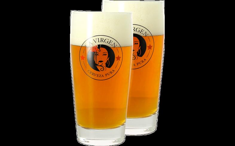 Biergläser - Pack 2x 33cl La Virgen Gläser