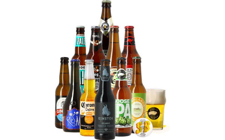 Bierpakketten - Wereldbieren Pakket (12 stuks) + Gratis Glas