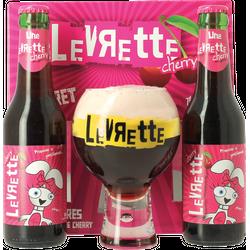 Bouteilles - Coffret Levrette Cherry - 2 bières et 1 verre