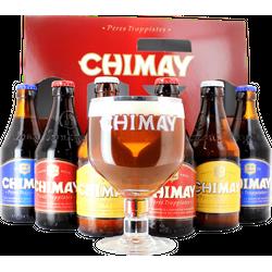 Pack regalo con cerveza y vasos - Coffret Chimay Triologie