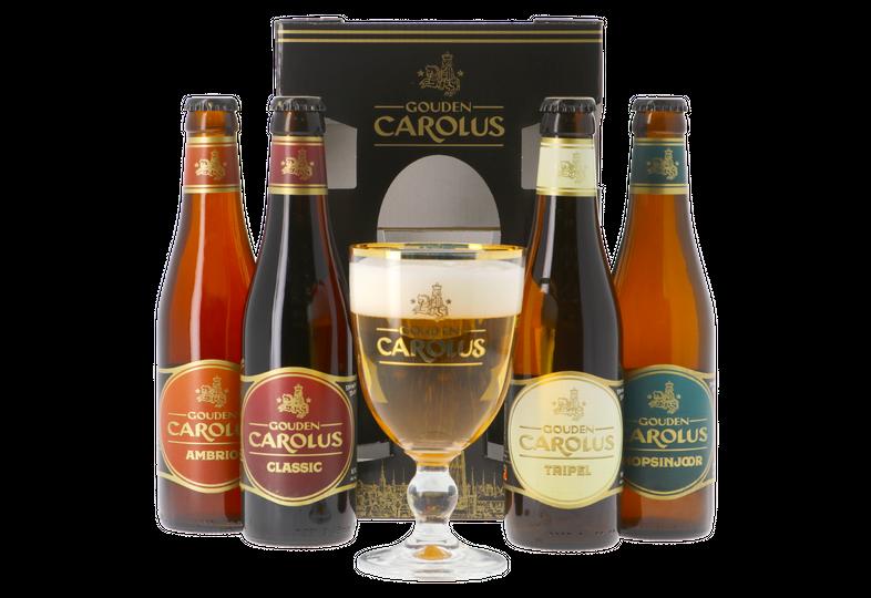 Accessoires et cadeaux - Coffret Gouden Carolus - 4 bières et 1 verre