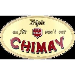 plaques publicitaires - Plaque Chimay Triple