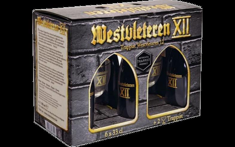 Accessoires et cadeaux - Coffret Westvleteren 12 (6 bières 2 verres)