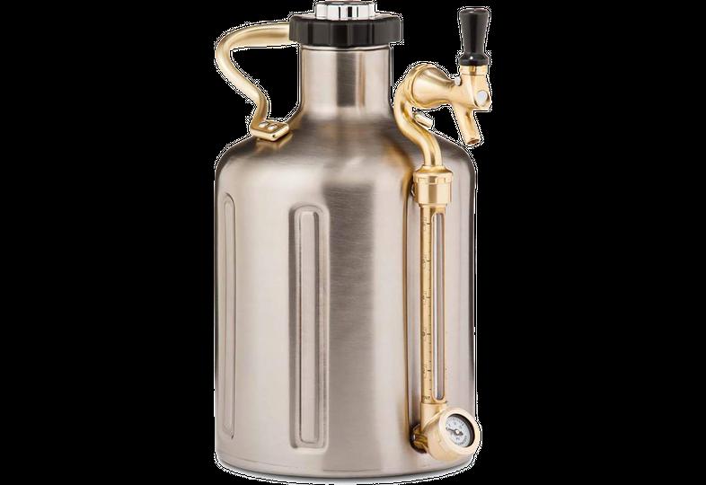 Accessoires du brasseur - uKeg  GrowlerWerks 3,8 L - Tireuse portative en acier inoxydable (128 onces)