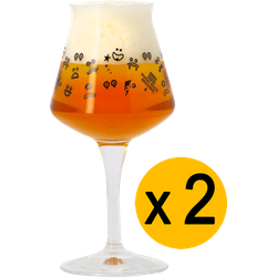 Verres à bière - Pack 2 Verres Teku Magic Rock - 33 cl