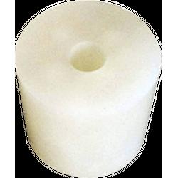 Accessoires du brasseur - Bouchon en Silicone  47 à 55 mm, troué 9 mm