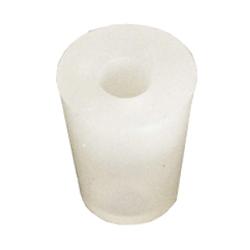 Accessoires du brasseur - Bouchon en silicone 26 à 32 mm , troué 9 mm