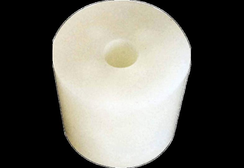 Brewer s accessories - bouchon en silicone 29/35 mm - avec trou 9 mm