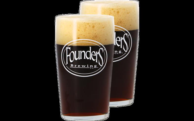 Biergläser - Pack 2x 50cl Founders Brewing Gläser