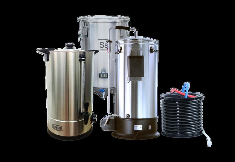 Brassage - Pack Trio Brassage & Fermentation - Grainfather Connect + Sparge Water +  Brew Bucket BME 7 Gal Ss Brewtech