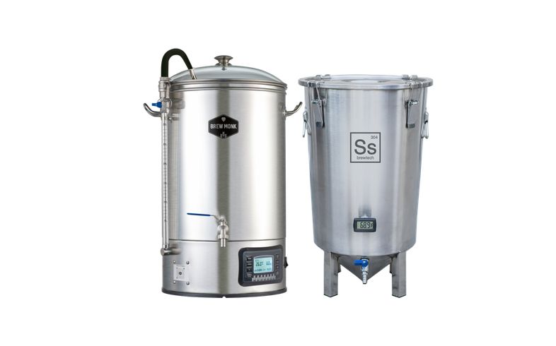 Brouwketels - Brew Monk 30L + Brew Bucket 7 Gallons SS Brewtech
