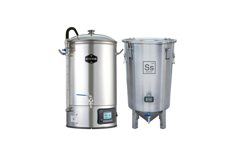Cuves de brassage - Pack Duo Brassage & Fermentation - Brew Monk 30L +  Brew Bucket BME 7 Gal. Ss Brewtech