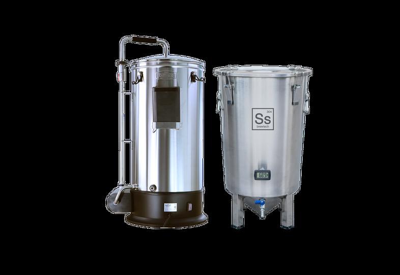 Cuves de brassage - Pack Duo Brassage & Fermentation - Grainfather Connect + Brew Bucket BME 7 Gal. Ss Brewtech
