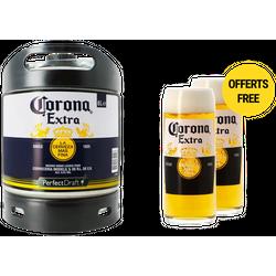 Fatöl - Corona Extra PerfectDraft 6L Fat + 2 glas 50 cl