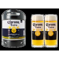 Fatöl - Corona Extra PerfectDraft 6-liters Fat + 2 glas