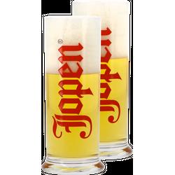 Verres à bière - Pack 2 Verres Jopen Droit - 25 cl