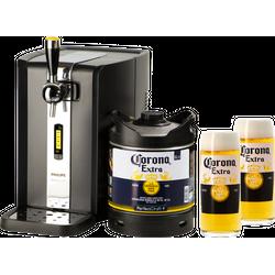 Bierzapfanlagen - Zapfanlage PerfectDraft + Corona Extra Fass 6 liter + 2 Gläser