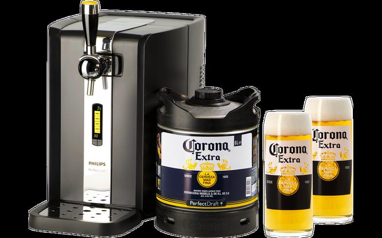 Spillatori di birra - Pack Spillatore PerfectDraft Corona + 2 bicchieri