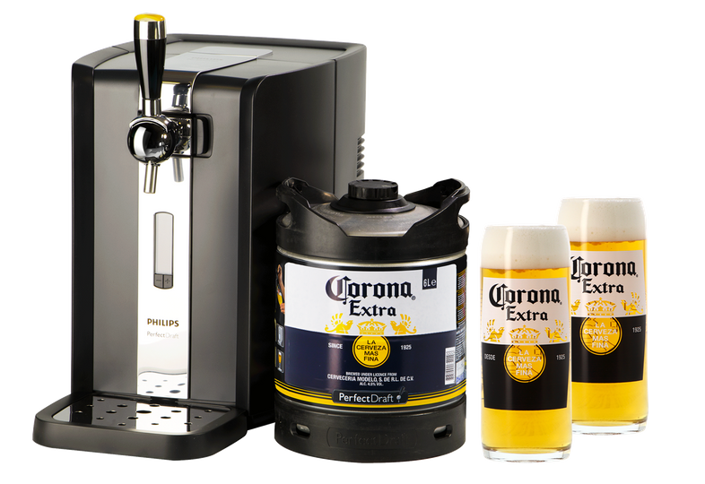 Flaskor - PerfectDraft Corona Extra Dispenser Pack + 2 glas