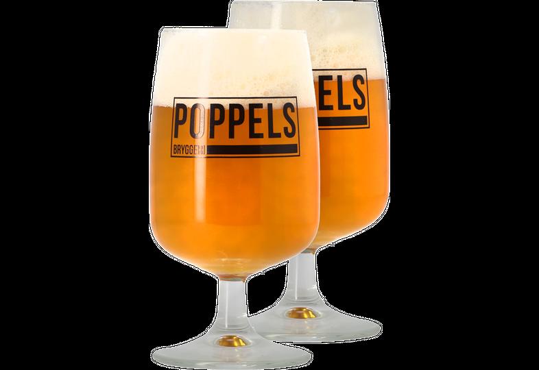Beer glasses - Pack 2 Verres Poppels 25 cl