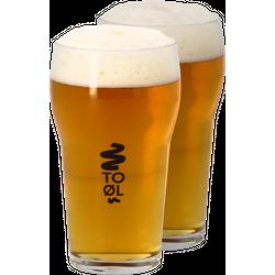 Verres à bière - Pack 2 Verres To Øl - 20 cl