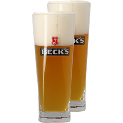 Beer glasses - Pack 2 verres Beck's - 50 cl