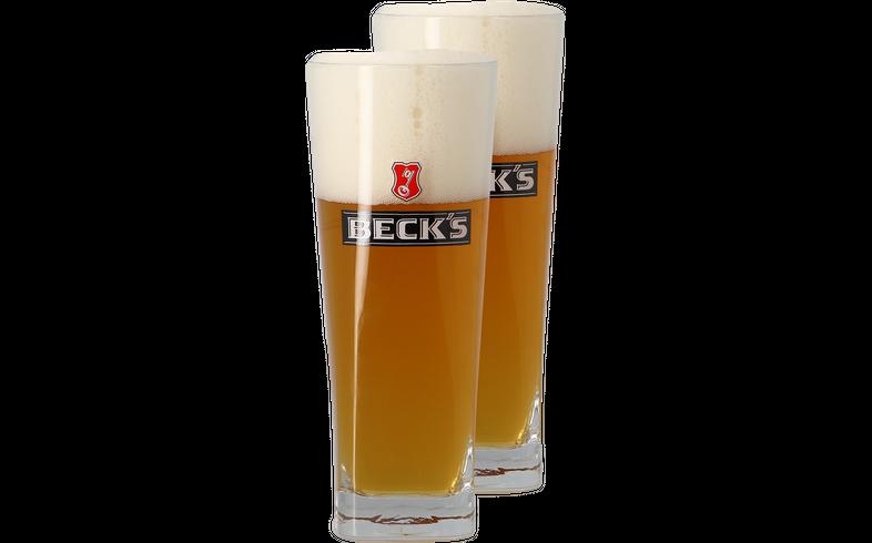 Biergläser - Pack 2x 50cl Beck´s Gläser