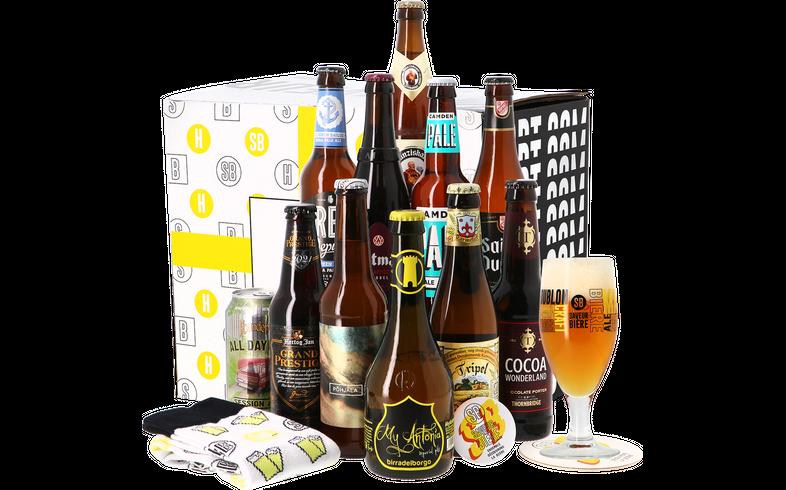 Bierpakketten - Vaderdag Pakket (11 bieren) + Gratis Glas & Sokken