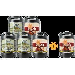 Fûts de bière - Pack 5 fûts  + 1 offert - 3 fûts Kwak - 3 fûts Tripel Karmeliet
