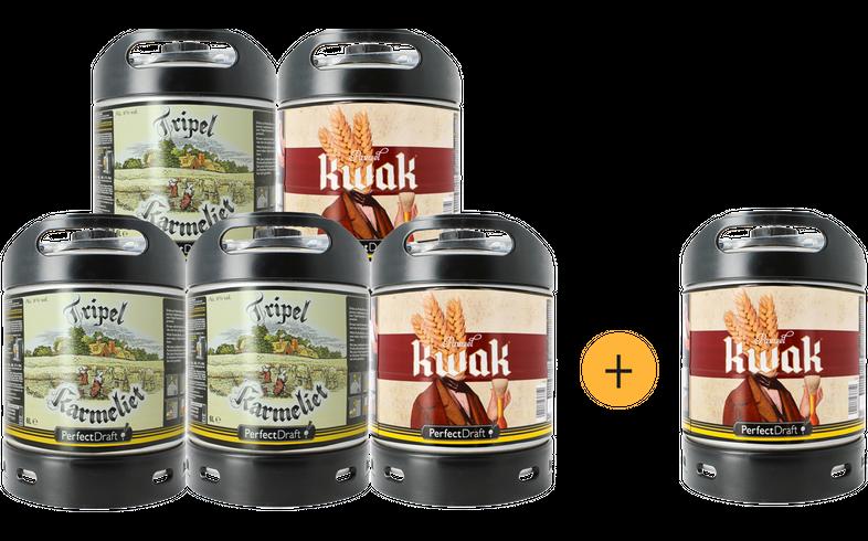Fässer - Pack 5+1 Gratis Tripel Karmeliet-Pauwel Kwak PerfectDraft Fässer 6 Liter - Mehrweg