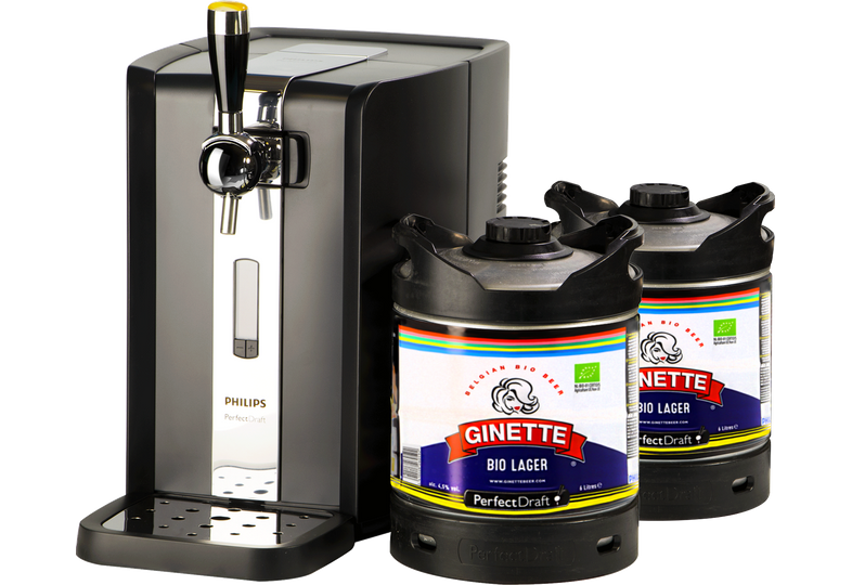 Tireuse à bière - Pack Tireuse Perfectdraft 2 fûts Ginette Lager Bio