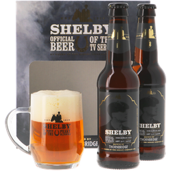 Gift box with beer and glass - Coffret Thornbridge Shelby - 2 bières et 1 verre