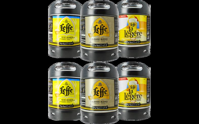 Fûts de bière - Assortiment 6 fûts 6L Leffe : Blonde - La Légère - Été Zomerbier