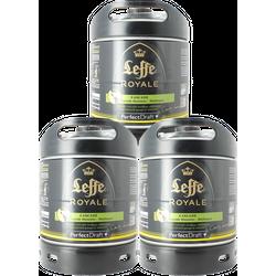 Fûts de bière - Pack 3 fûts 6L Leffe Royale Cascade