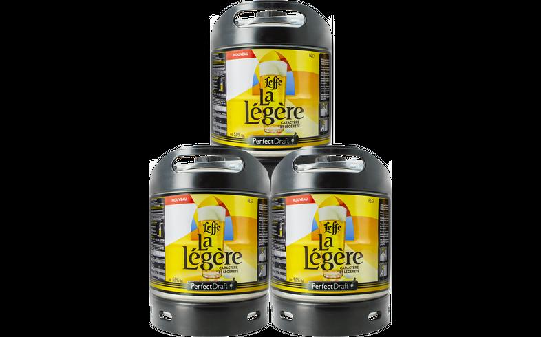 Fûts de bière - Pack 3 fûts 6L Leffe La Légère