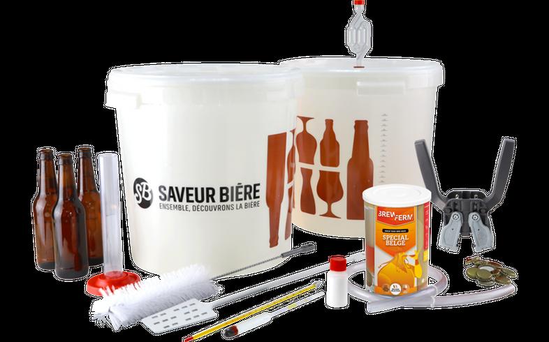 Beer Kit - Kit de brassage Débutant Deluxe Bière Ambrée pour kit à bière