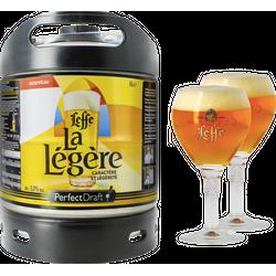 Fûts de bière - Pack 1 fût 6L Leffe La Légère + 2 verres Leffe Calice - 25 cl