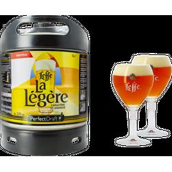 Fûts de bière - Pack 1 fût 6L Leffe La Légère + 2 verres Leffe Calice - 33 cl