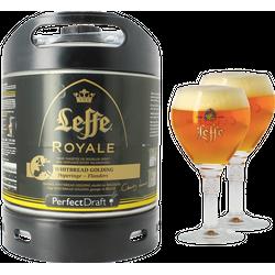 Fûts de bière - Pack 1 fût 6L Leffe Royale + 2 verres Leffe Calice - 25 cl