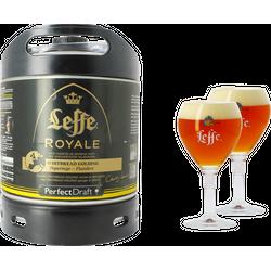 Fûts de bière - Pack 1 fût 6L Leffe Royale + 2 verres Leffe Calice - 33 cl
