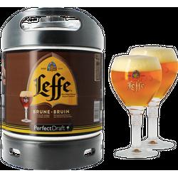 Kegs - Pack 1 fût 6L Leffe Brune + 2 verres Leffe Calice - 25 cl