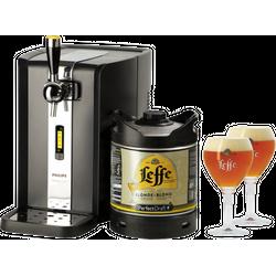 Fûts de bière - Pack Tireuse Leffe Blonde + 2 verres Leffe Calice - 25 cl