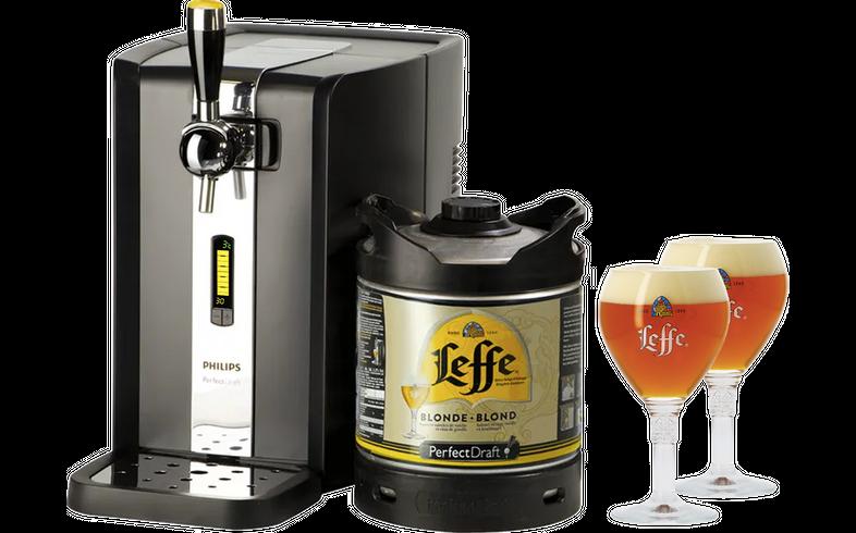 Tapvaten - PerfectDraft Leffe Blond Starter Pack - Machine + Vat + 2 Glazen