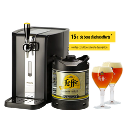 Kegs - Pack Tireuse Leffe Blonde + 2 verres Leffe Calice - 33 cl