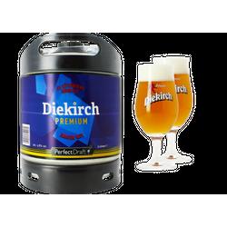Tapvaten - Pack 1 6 liter tapvat Diekirch Premium + 2 glazen Diekirch - 25 cl