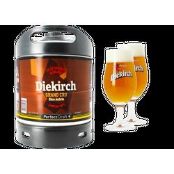 Tapvaten - Pack 1 fût 6L Diekirch Grand Cru + 2 verres Diekirch - 25 cl