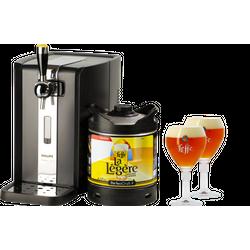 Tireuse à bière - Pack Tireuse Leffe La Légère + 2 verres Leffe Calice - 33 cl
