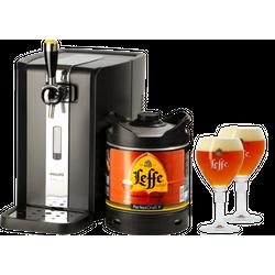 Tireuse à bière - Pack Tireuse Leffe Ambrée + 2 verres Leffe Calice - 33 cl